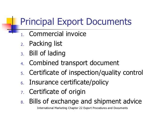Logistics export import pdf documentation and procedures