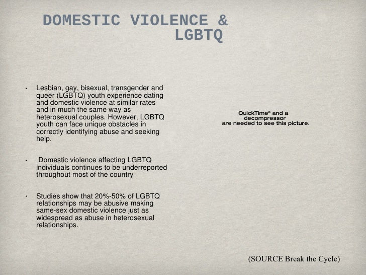 Gay And Lesbian Domestic Violence