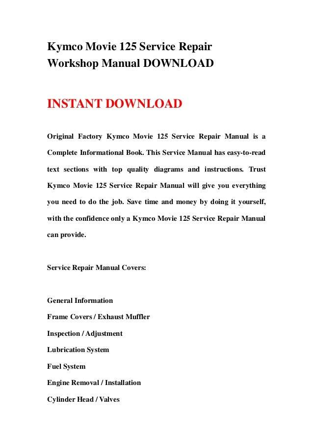 manual kymco movie 125