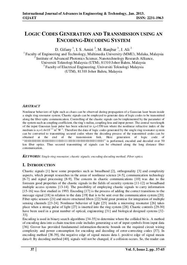 International Journal of Advances in Engineering & Technology, Jan. 2013. ©IJAET ISSN: 2231-1963 37 Vol. 5, Issue 2, pp. 3...