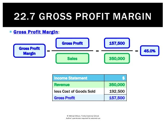 """business gross and net profit (when you subtract cogs from revenue you get gross profit, which,  """"some  parts of operating expenses, which we assume are fixed, are in."""