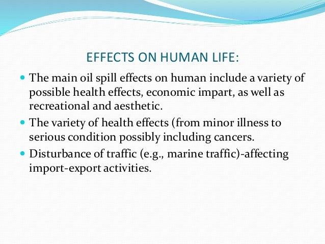 importance of oil spills
