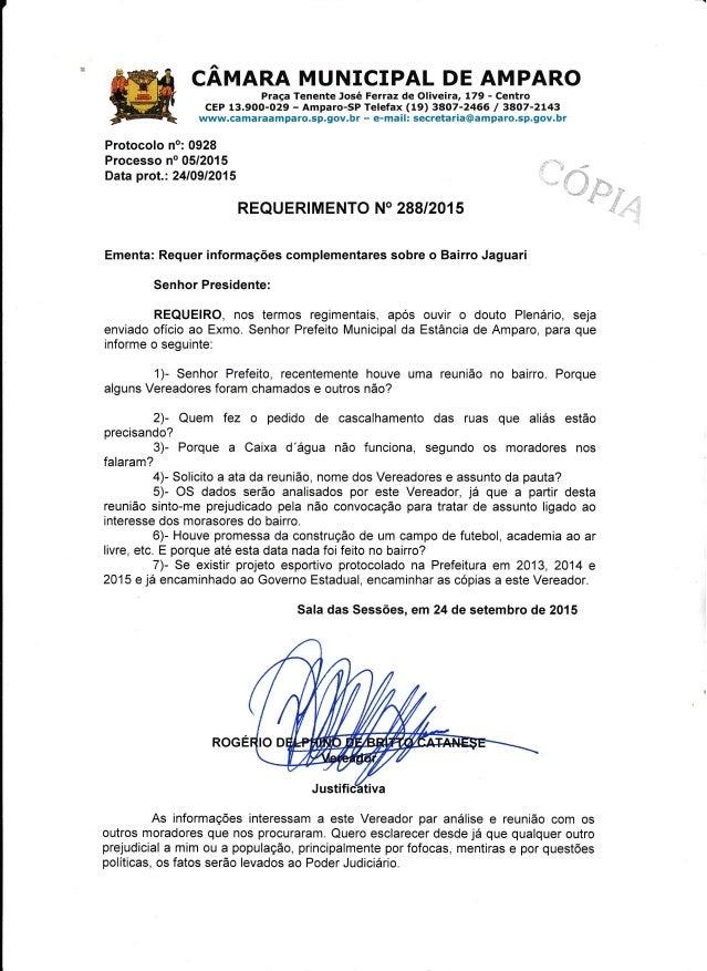 CAMARA MUNICIPAL DE AMPARO  Praga Tenente José Ferraz de Oliveira,  179 - Centro CEP 13.900-029 — Amparo-SP Telefax (19) 3...