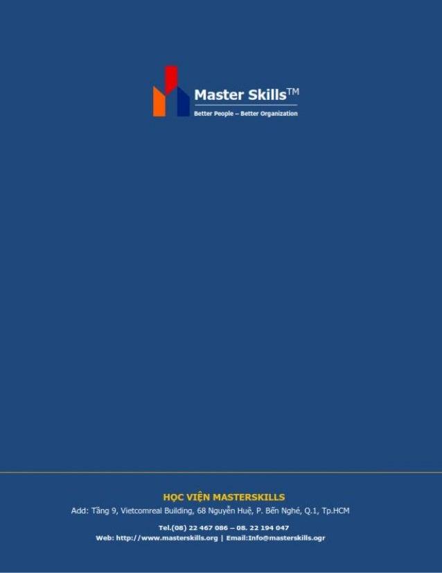 "Master SkillsT""'  Better People - Better Organilation  HQC VIEW l-IASTERSKILLS Add:  Térg 9, Vietcomrea' Bufidurvg,  68 Ngu..."