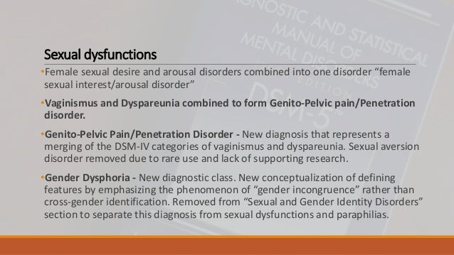 Sexual interest/arousal disorder dsm 5