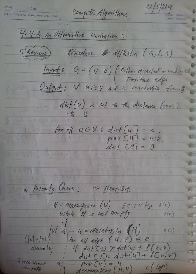 2014-1 Computer Algorithm W11 Notes