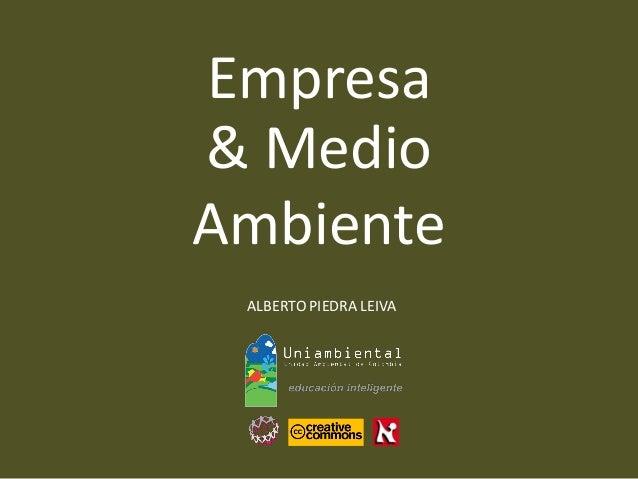 ALBERTO PIEDRA LEIVA  Empresa  & Medio  Ambiente