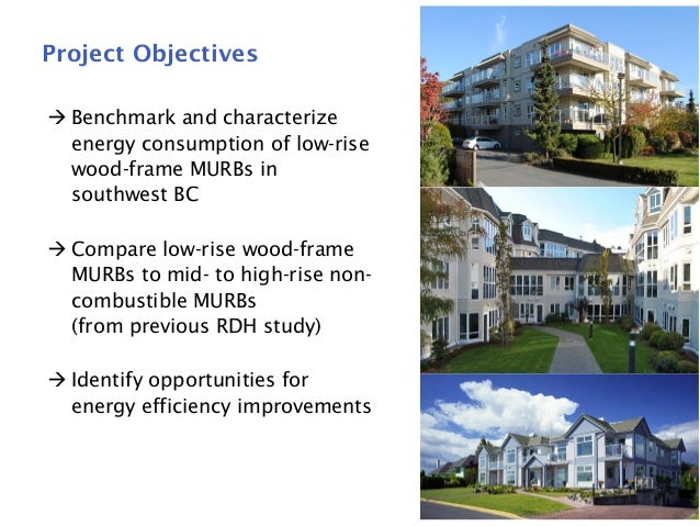 Energy Consumption in Low-Rise Wood Frame Multi-Unit Residential Buildings Slide 3