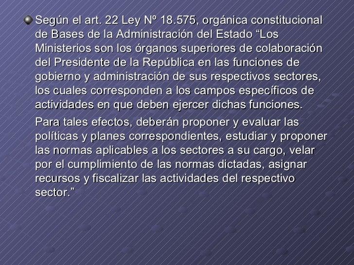 22-26. Derecho Constitucional. Ministros de Estado