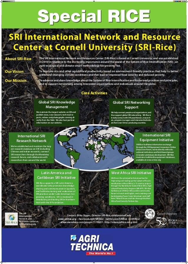 SRI International Network and Resource Center at Cornell University (SRI-Rice) About SRI-Rice  The SRI International Netwo...