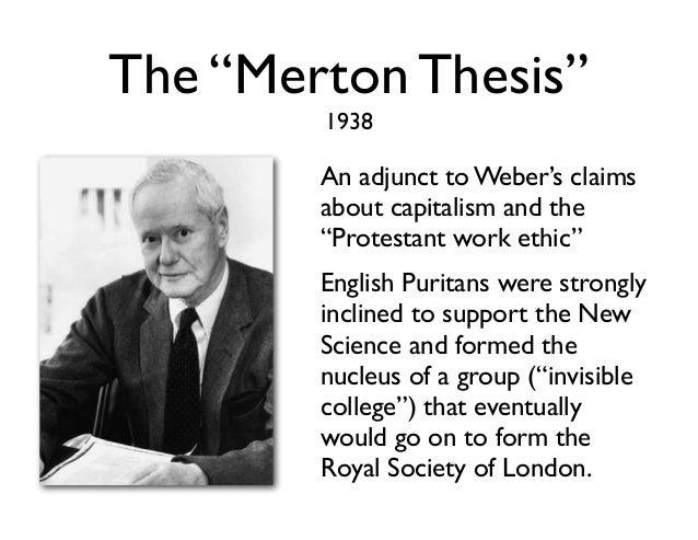 The merton thesis