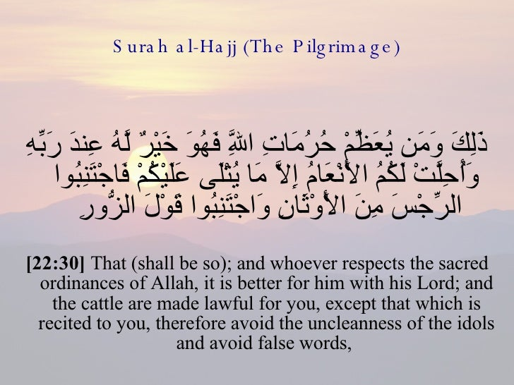 The Pilgrim's Provision 22-surah-al-hajj-the-pilgrimage-31-728