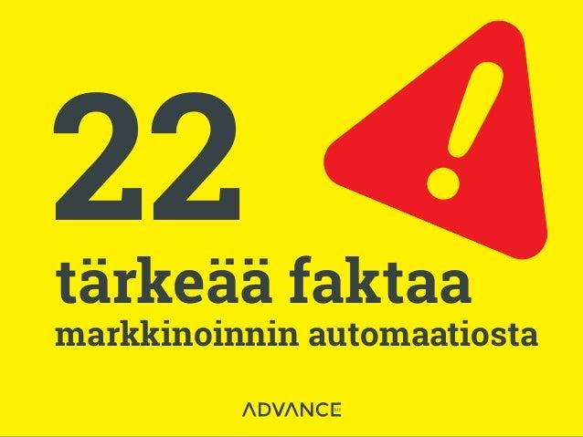 22tärkeää faktaa markkinoinnin automaatiosta
