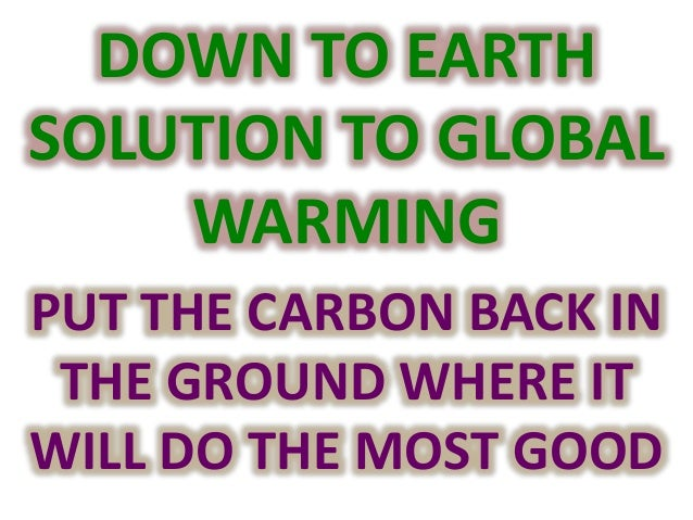 Thomas goreau the down to earth solution to global for 0 4 soil carbon