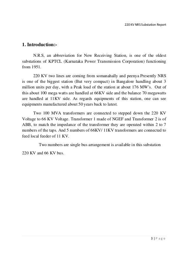 220 66 kv nrs sub report
