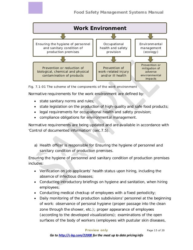 Food Safety Management Systems Manual Preview only Page 15 of 20 Go to http://c-bg.com/22000 for the most up to date prici...