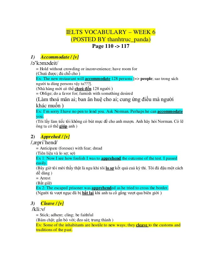 ielts english vocabulary list pdf