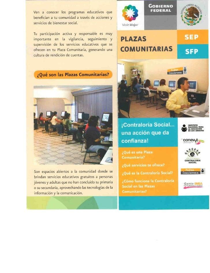 ¿Que son las Plazas Comunitarias?