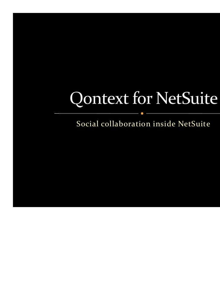Social collaboration inside NetSuite