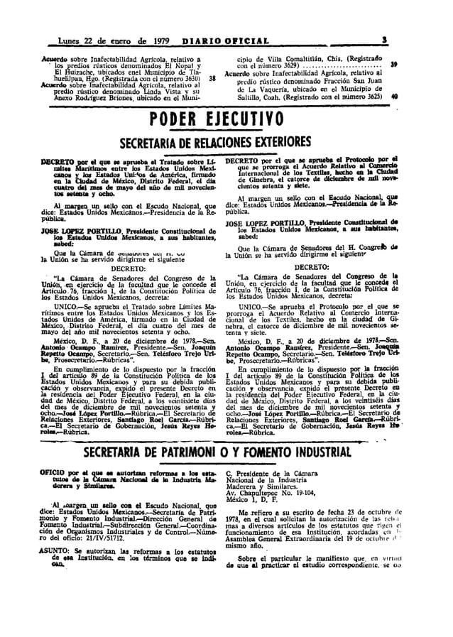Lunes 22 de enero de 1979               DIARIO OPtCIAL                                                       J~do        s...