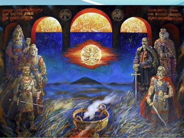 Скифы: слева – скиф из Никопольского кургана, справа – скифский царь Скилур (реконструкции М.М. Герасимова).