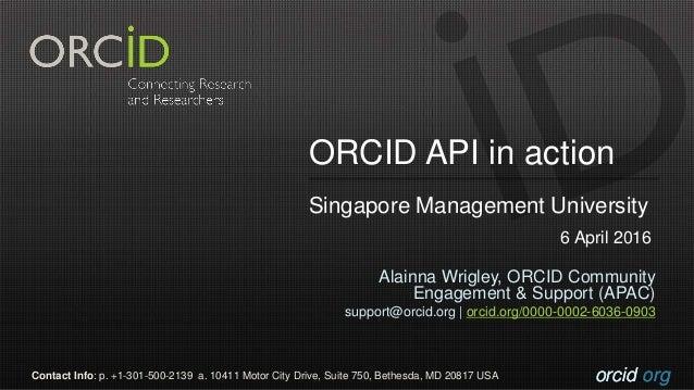 orcid.orgorcid.orgContact Info: p. +1-301-500-2139 a. 10411 Motor City Drive, Suite 750, Bethesda, MD 20817 USA Alainna Wr...