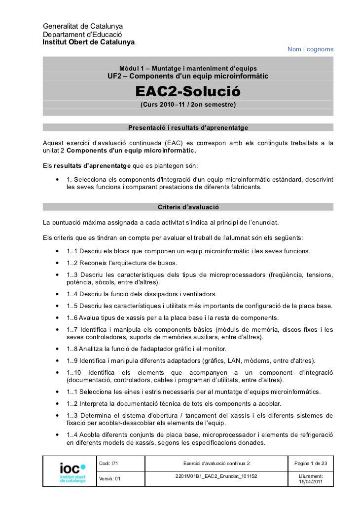 Generalitat de CatalunyaDepartament d'EducacióInstitut Obert de Catalunya                                                 ...