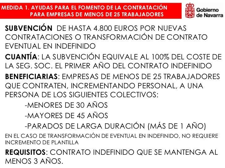 Medidas fomento empleo navarra for Plantilla de contrato indefinido