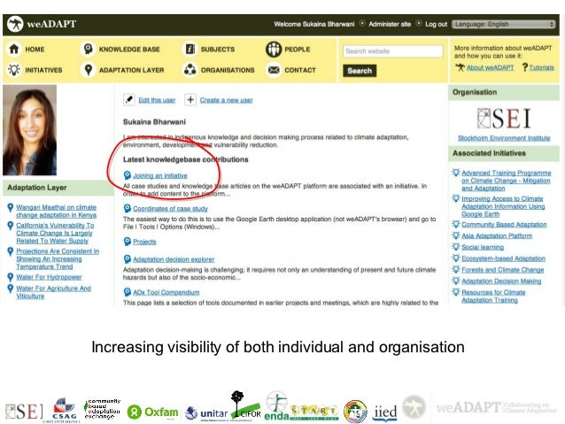 +    Visibility        Increasing visibility of both individual and organisation