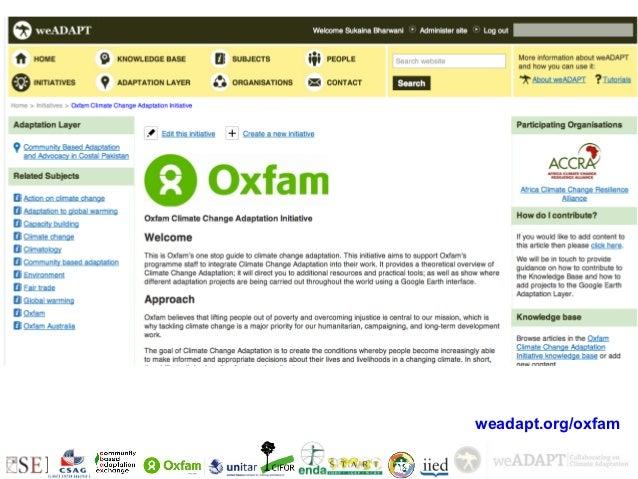 +    weadapt.org/oxfam