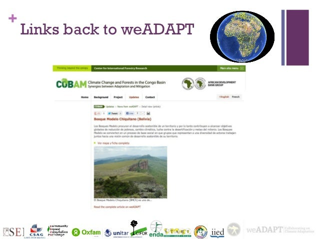 +    Links back to weADAPT
