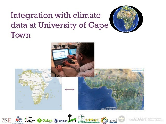 Integration with climatedata at University of CapeTown