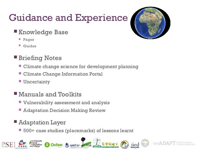 Guidance and Experience Knowledge           Base       Pages       Guides Briefing       Notes       Climate change s...