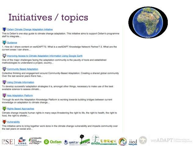 Initiatives / topics