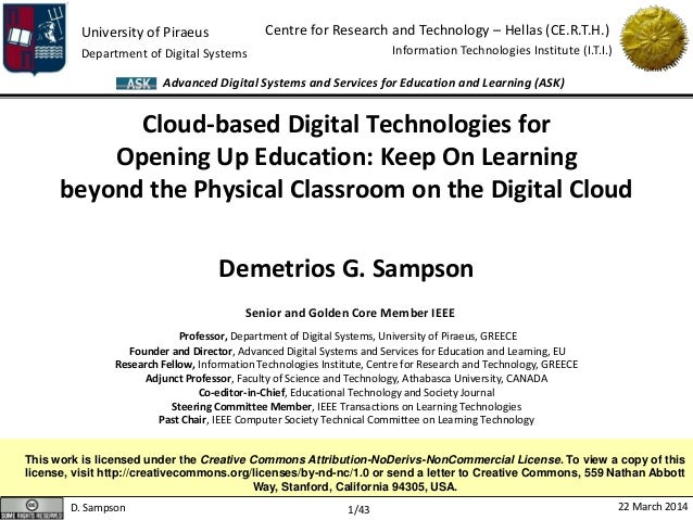 University of Piraeus Department of Digital Systems Centre for Research and Technology – Hellas (CE.R.T.H.) Information Te...