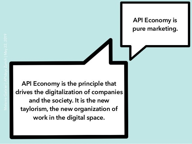 API Economy is pure marketing. API Economy is the principle that drives the digitalization of companies and the society. I...