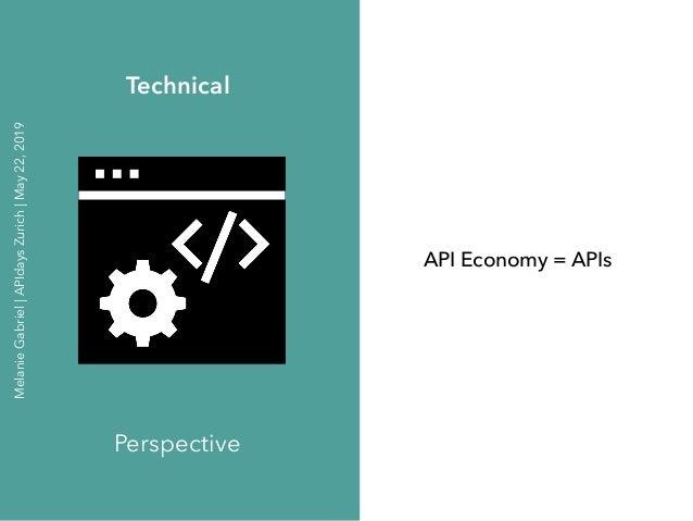 API Economy = APIs Technical Perspective MelanieGabriel APIdaysZurich May22,2019