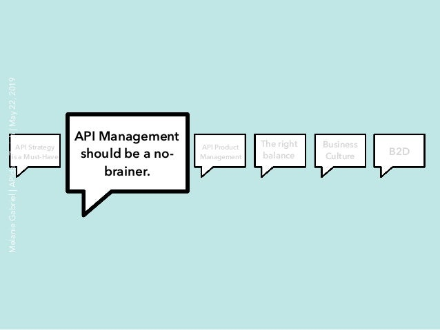 API Management should be a no- brainer. API Product Management The right balance Business Culture B2D API Strategy is a Mu...