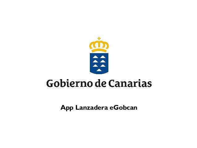 App Lanzadera eGobcan