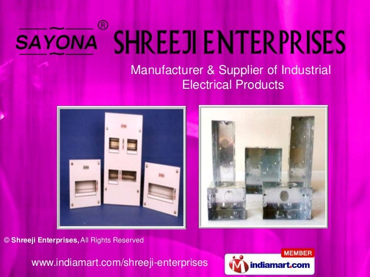 Manufacturer & Supplier of Industrial <br />               Electrical Products<br />