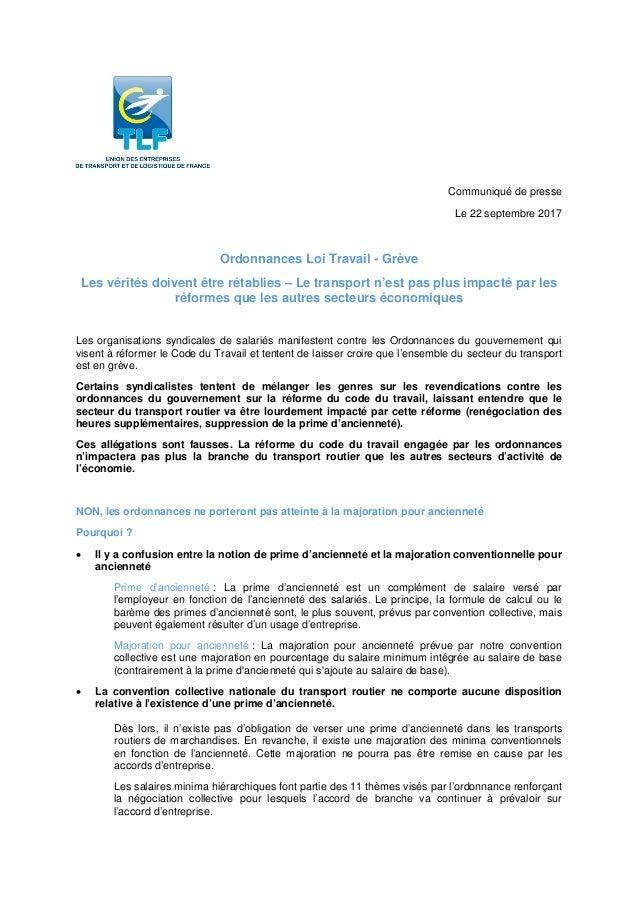 Idcc 16 Tract De La Federation D Employeurs Tlf Sur Les Ordonnances