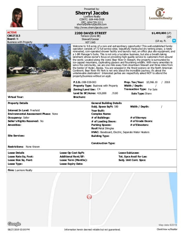 Virtual Tour: Brochure: Transaction Type:Zoning/Land Use: Land Sz SF/Acres: Width / Depth: Prop. Tax/Year: Property Type: ...