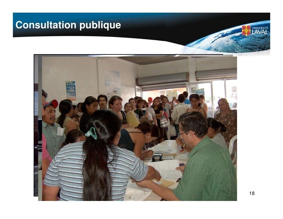 Consultation publique                             18