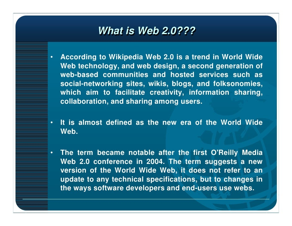 web 2 0 the second generation of the world wide web essay Transforming the web into a database 2 an evolutionary path to artificial  web  20 tools, 2013) this is the second generation web (world wide web), but it is.