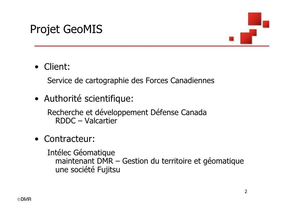 GeoMIS – Système de métadonnées et d'inventaire géospatial Slide 2