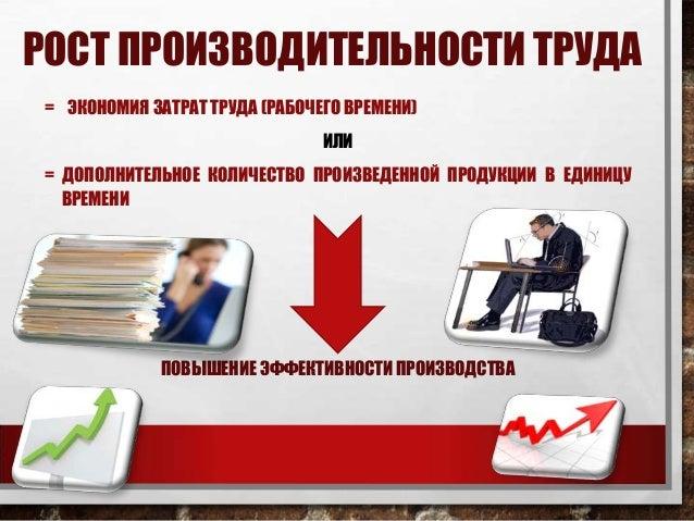 производительность труда курсовая