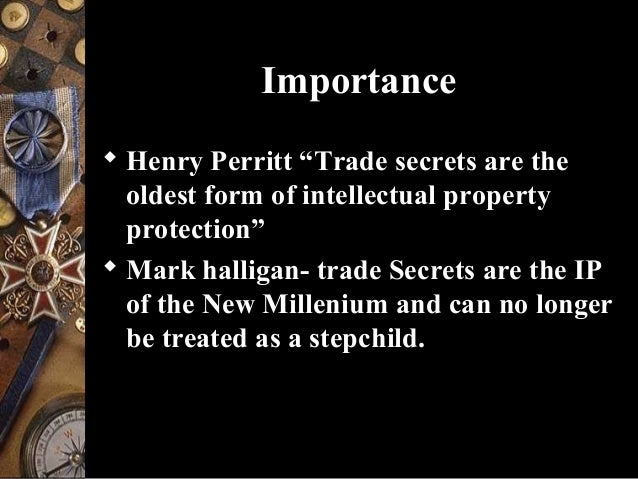 Trade Secrets: Trade Secrets and Biotechnology - BananaIP