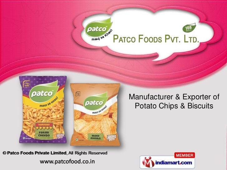 Manufacturer & Exporter of Potato Chips & Biscuits