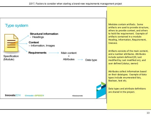 ... requirements management project; 14. Modules contain artifacts.  sc 1 st  SlideShare & Factors to consider when starting a brand-new requirements managementu2026 pezcame.com