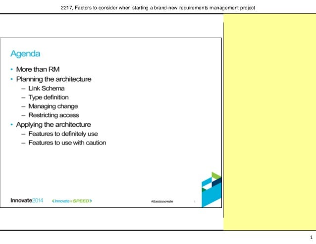 ... requirements management project; 2.  sc 1 st  SlideShare & Factors to consider when starting a brand-new requirements management\u2026